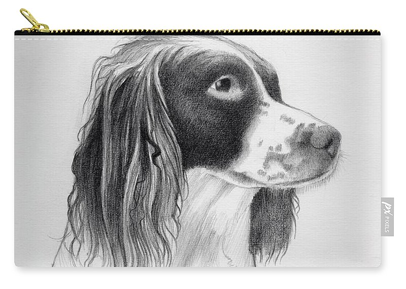 Coco Carry-all Pouch featuring the drawing Coco by Ashley Jennings