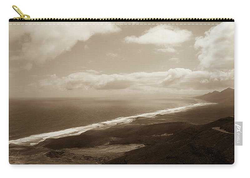 Landscape Carry-all Pouch featuring the photograph Cofete Beach by Eliza Spatar