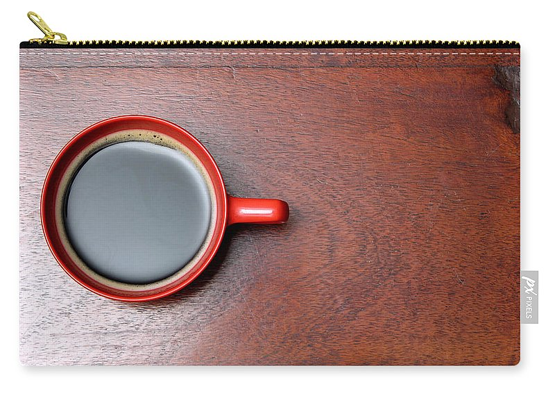 Motivation Carry-all Pouch featuring the photograph Coffee Chill Out by Fotografiabasica