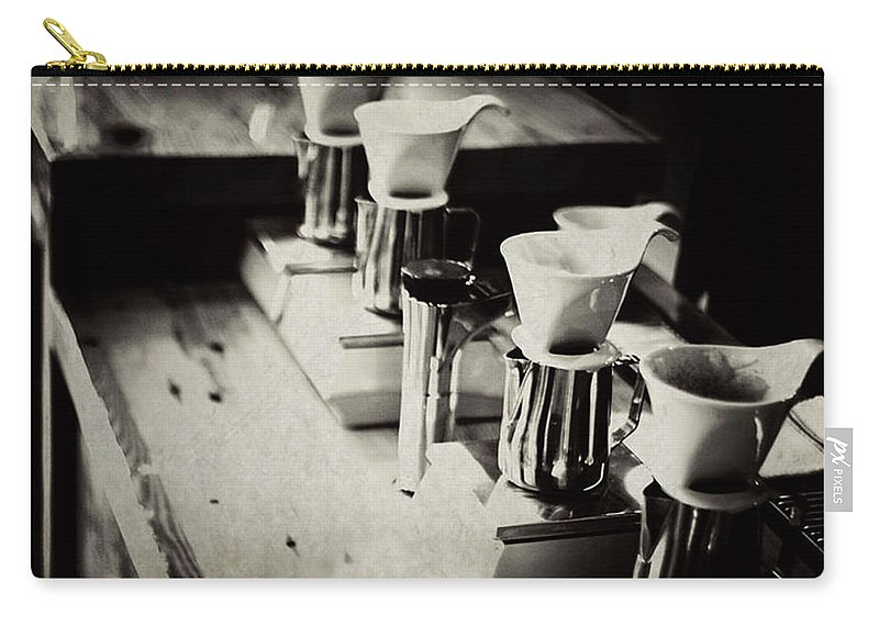 Retail Carry-all Pouch featuring the photograph Coffee Shop by Hilde Wegner . Photography
