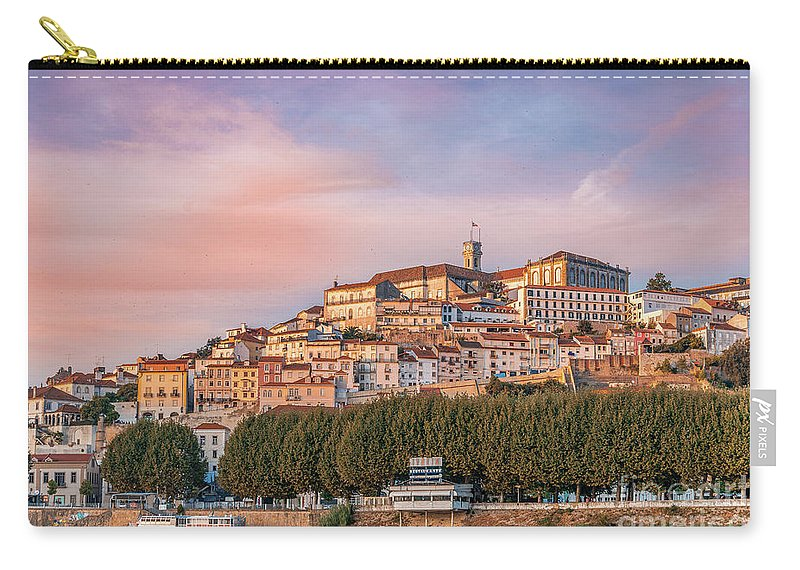 Coimbra Carry-all Pouch featuring the photograph Coimbra's Skyline by Nato Manzolli