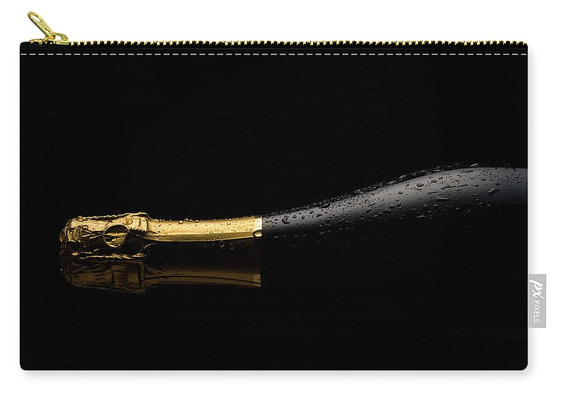 Alcohol Carry-all Pouch featuring the photograph Cold Champagne Bottle by P1images