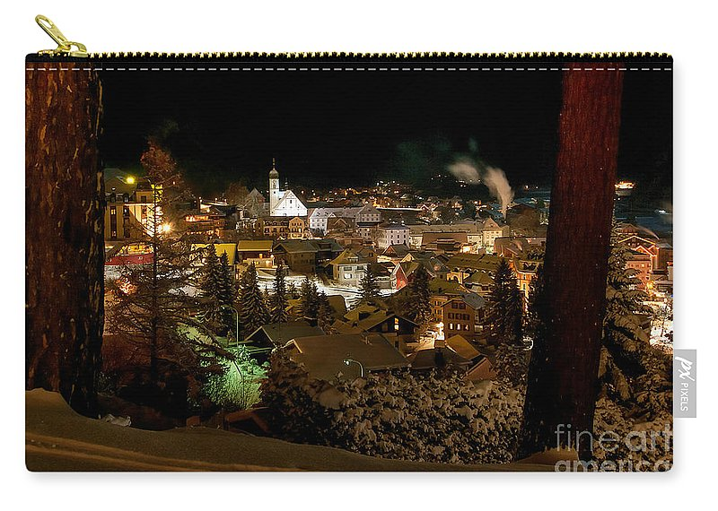 Winter Carry-all Pouch featuring the photograph Cold Winter Night by Caroline Pirskanen