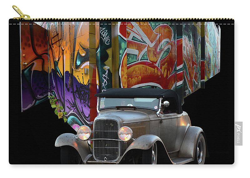 Into The Groove Carry-all Pouch featuring the photograph Color Me Gone by Bob Christopher