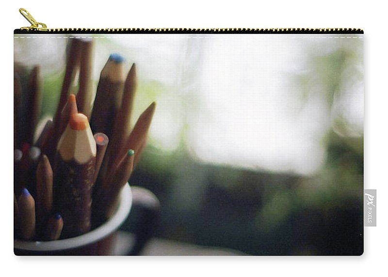 Osaka Prefecture Carry-all Pouch featuring the photograph Color Pencils by K-ko