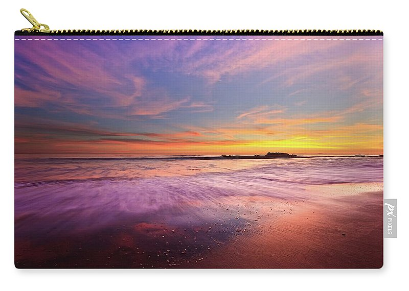 Scenics Carry-all Pouch featuring the photograph Color Splash At Sunset, Laguna Beach by Eric Lo