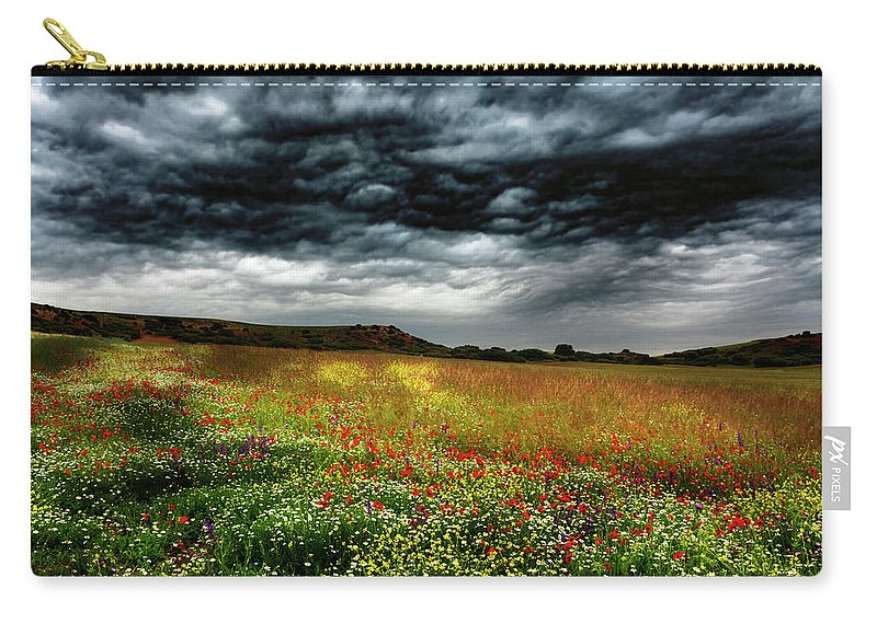 Nature Carry-all Pouch featuring the photograph Colorful Fields 2 by Vicente Sargues