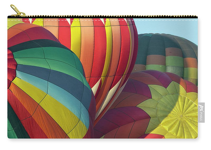 Celebration Carry-all Pouch featuring the photograph Colorful Inflation Balloon Race by Provided By Jp2pix.com
