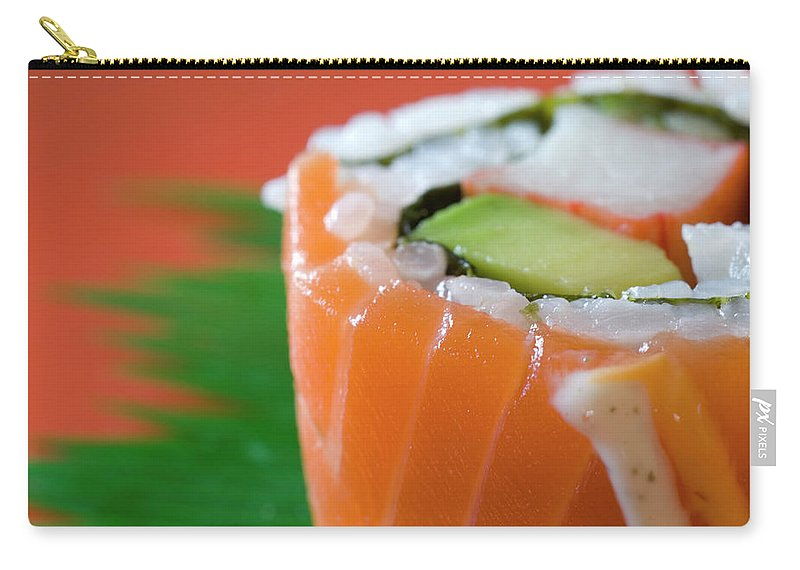 Asian And Indian Ethnicities Carry-all Pouch featuring the photograph Colorful Sushi by Creativeye99