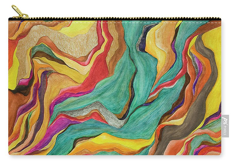 Art Carry-all Pouch featuring the digital art Colors Of Humanity Series by Marthadavies