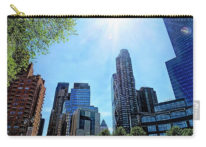 Columbus Carry-all Pouch featuring the photograph Columbus Circle At Mid Day by Doug Swanson