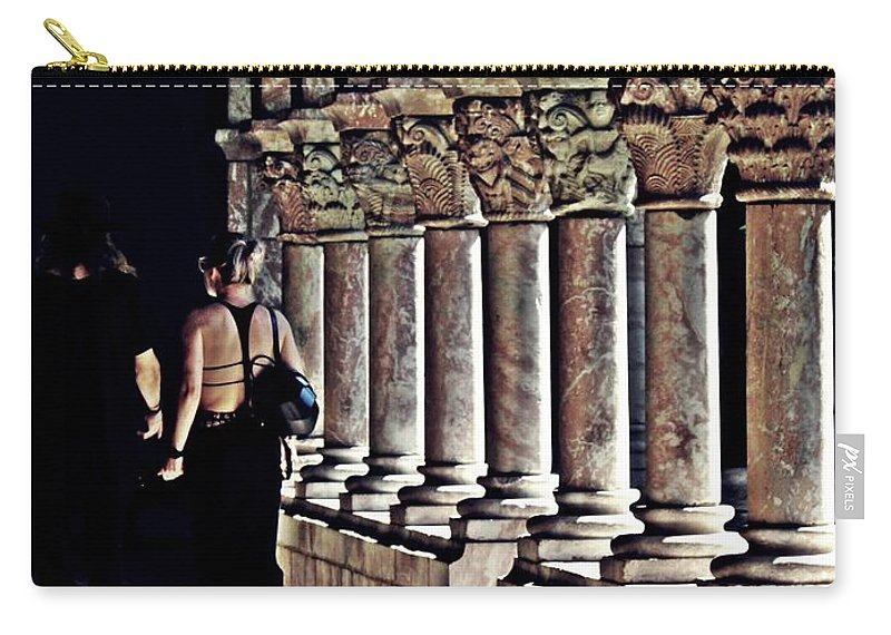 Building Carry-all Pouch featuring the photograph Columns At The Cloisters 2  by Sarah Loft