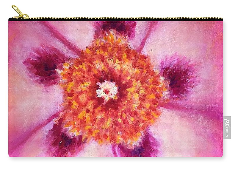 Compassion Carry-all Pouch featuring the painting Compassion Heart Center Series by Shannon Grissom