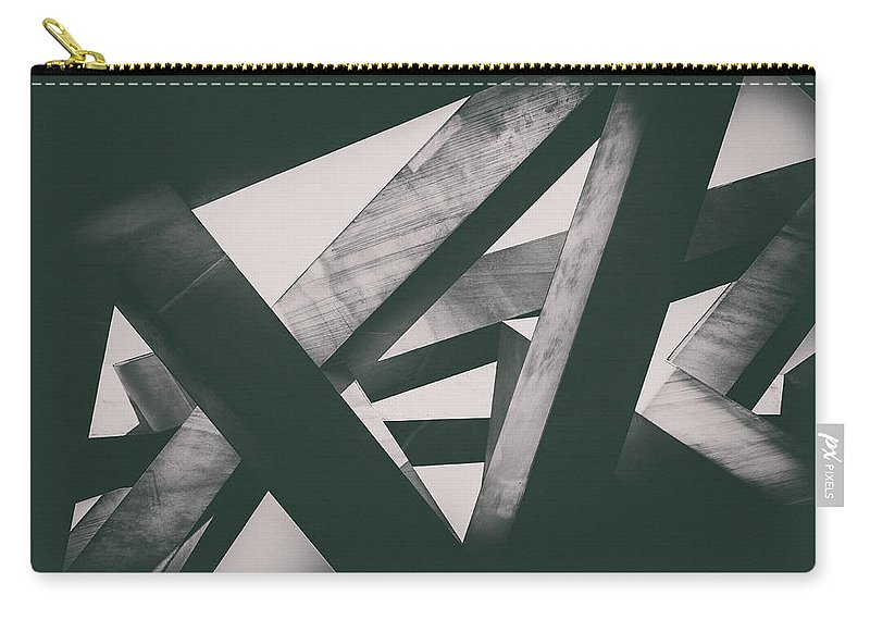 Shadow Carry-all Pouch featuring the photograph Concrete Pillars by Lordrunar