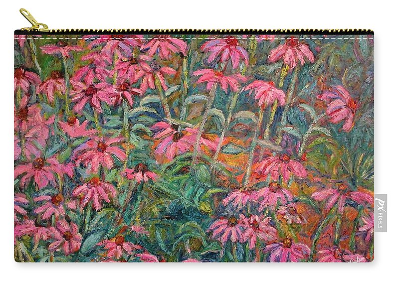 Kendall Kessler Carry-all Pouch featuring the painting Coneflowers by Kendall Kessler