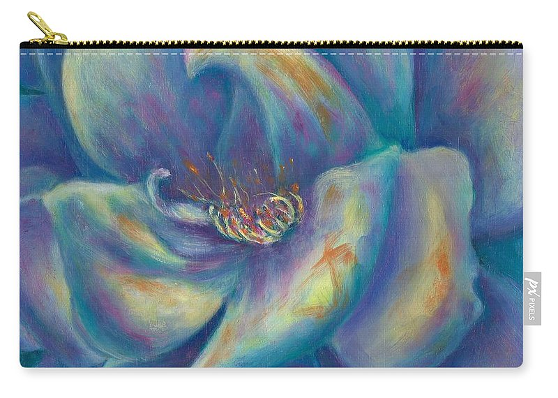 Confidence Carry-all Pouch featuring the painting Confidence Heart Center Series by Shannon Grissom