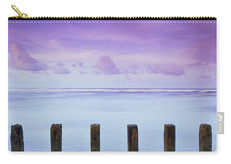 Trinidad Carry-all Pouch featuring the photograph Cotton Candy Skies Over The Sea by Trinidad Dreamscape