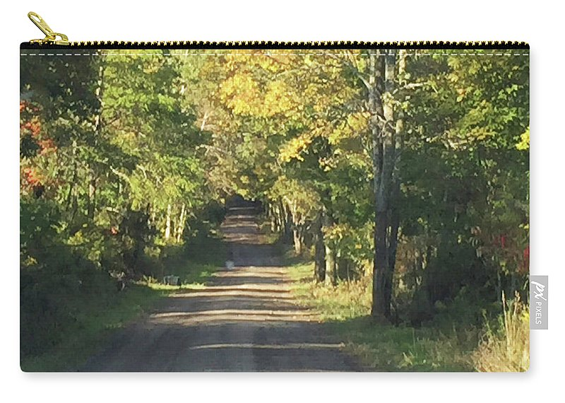 Fall Carry-all Pouch featuring the photograph Country Road In Fall by Christine Lathrop