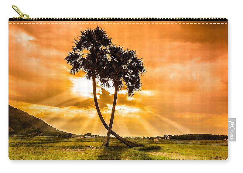 Love Carry-all Pouch featuring the photograph Couple by Lam Loi