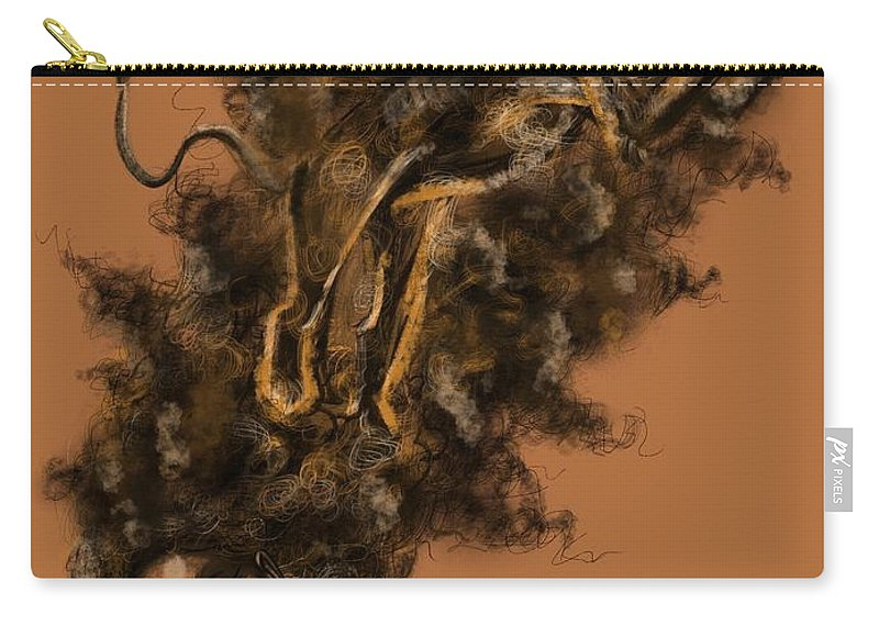 Lion Carry-all Pouch featuring the painting Courageous Me by Artist RiA