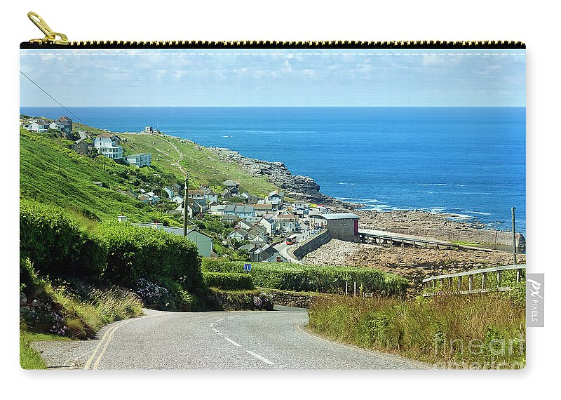 Sennen Cove Carry-all Pouch featuring the photograph Cove Hill Sennen Cove by Terri Waters