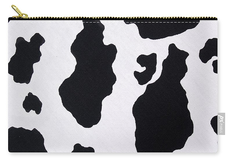 Animal Skin Carry-all Pouch featuring the photograph Cow Background by Schulteproductions
