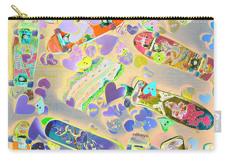 Pop Art Carry-all Pouch featuring the photograph Creative Skate by Jorgo Photography - Wall Art Gallery