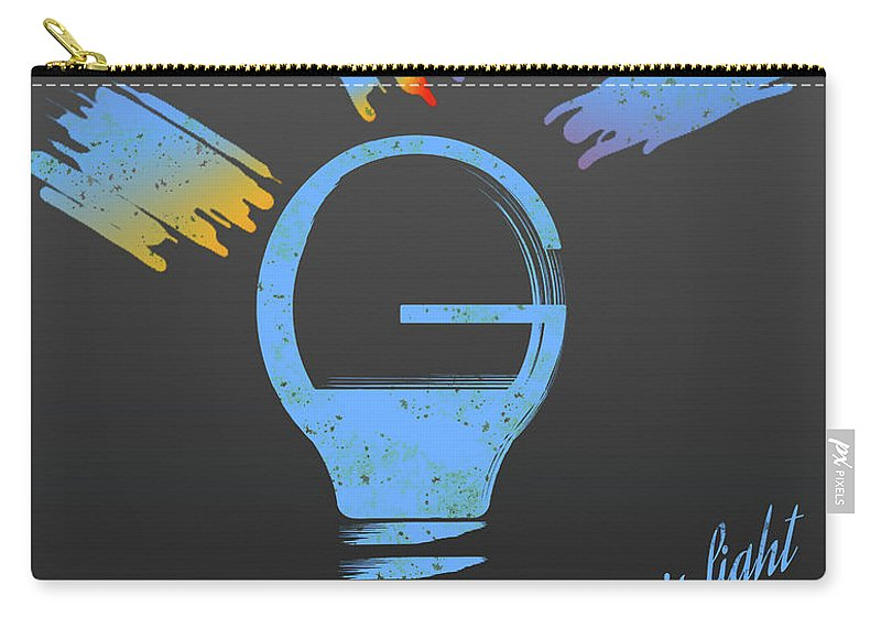 Light Bulb Carry-all Pouch featuring the digital art Creativity Is Light by Denis Giuffre