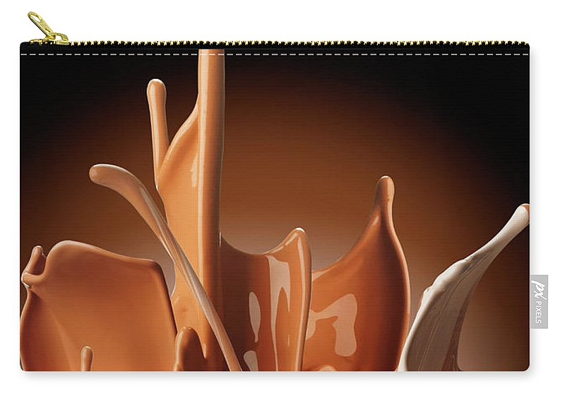 California Carry-all Pouch featuring the photograph Creme Brulee Splash by Jack Andersen