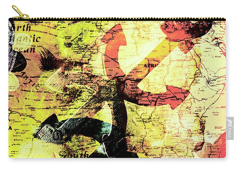 Map Carry-all Pouch featuring the photograph Crest Of A Vintage Voyage by Jorgo Photography - Wall Art Gallery