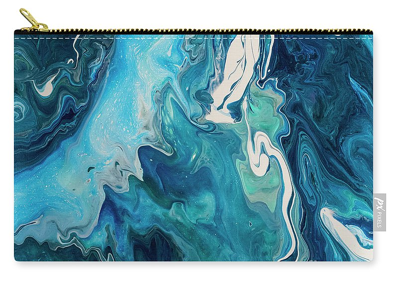 Acrylic Carry-all Pouch featuring the painting Cross Currents by Louise Magno