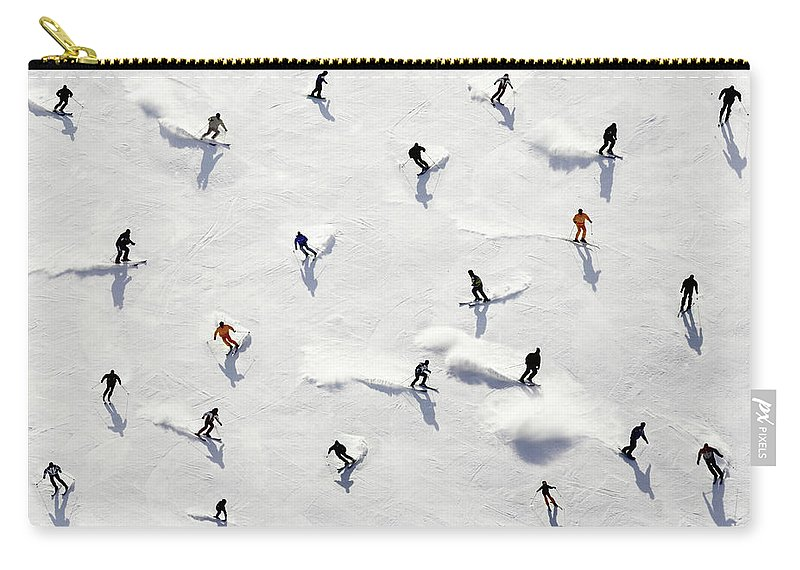 Skiing Carry-all Pouch featuring the photograph Crowded Holiday by Mistikas