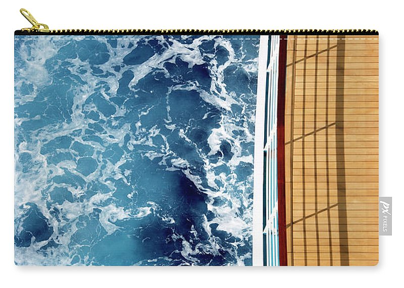 Shadow Carry-all Pouch featuring the photograph Cruise Ship And Ocean by David Sacks