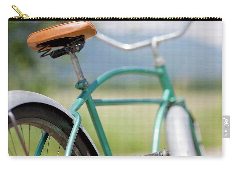 Tranquility Carry-all Pouch featuring the photograph Cruiser Bicycle by Rocksunderwater