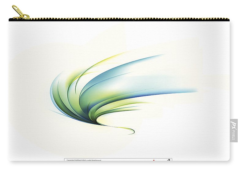 Curve Carry-all Pouch featuring the digital art Curved Shape On White Background by Eastnine Inc.