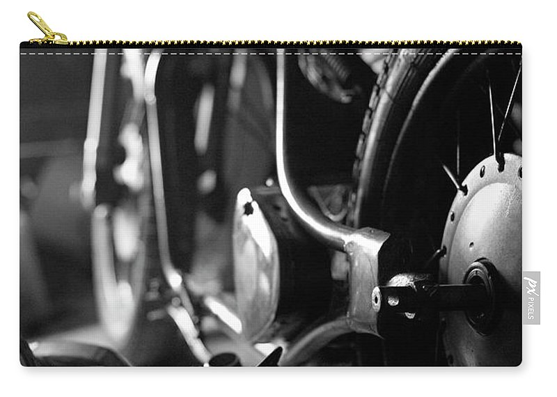Engine Carry-all Pouch featuring the photograph Custom Motorcycle by Alexey Bubryak