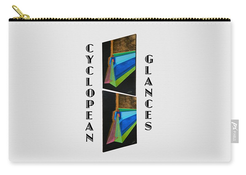 Art Carry-all Pouch featuring the painting Cyclopean Glances Hermite by Michael Bellon