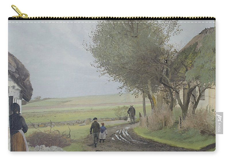 19th Century Art Carry-all Pouch featuring the painting Dad Comes Home by Laurits Andersen Ring