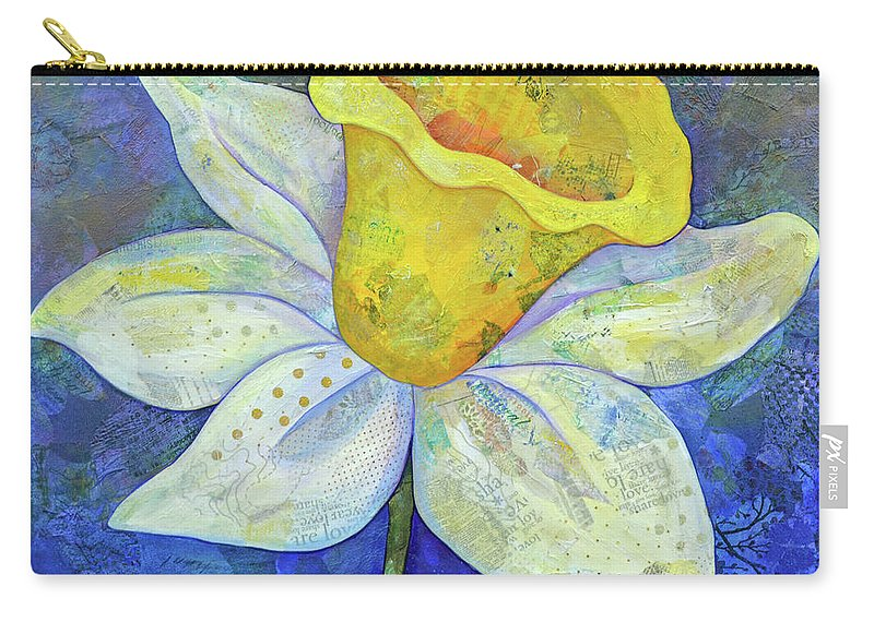 Rhododendrons Carry-all Pouch featuring the painting Daffodil Festival II by Shadia Derbyshire
