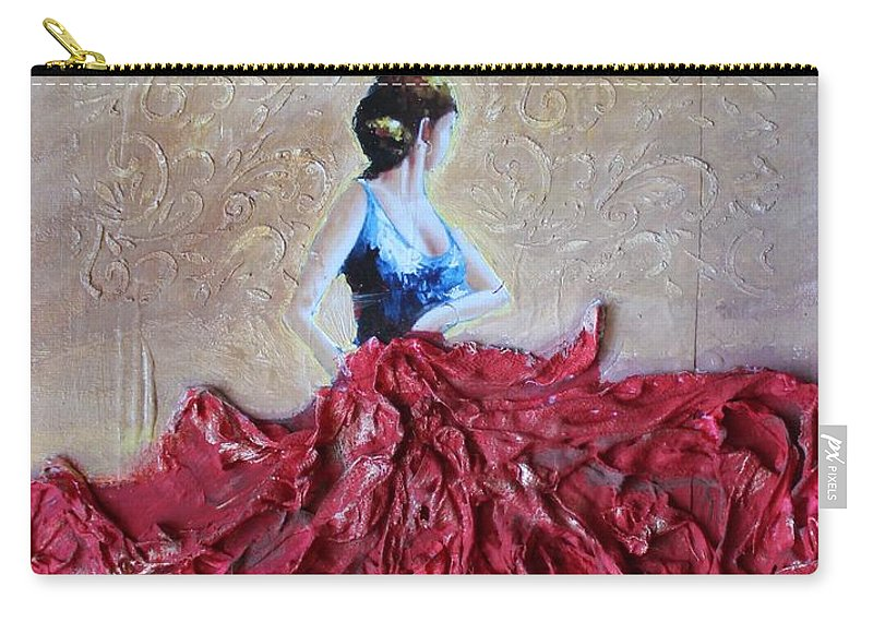 Carry-all Pouch featuring the mixed media Dancer by Andrea Laurincova