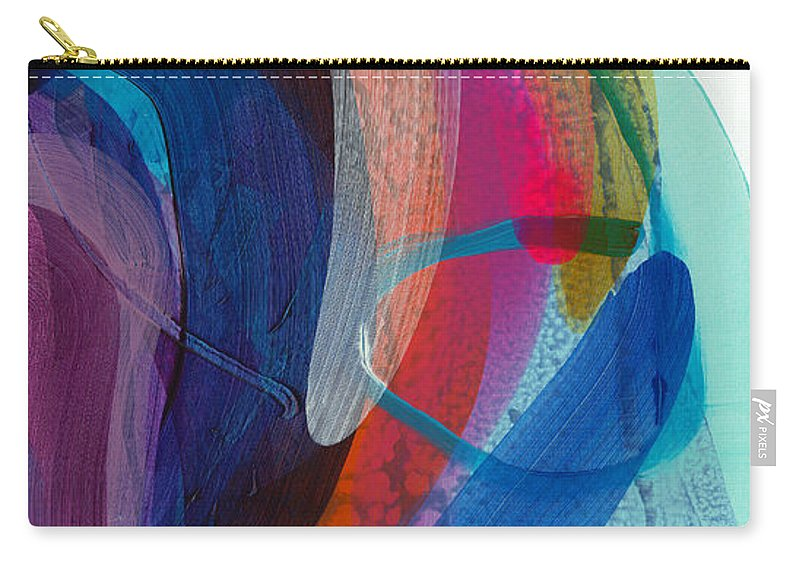 Abstract Carry-all Pouch featuring the painting Dancing In The Kitchen by Claire Desjardins