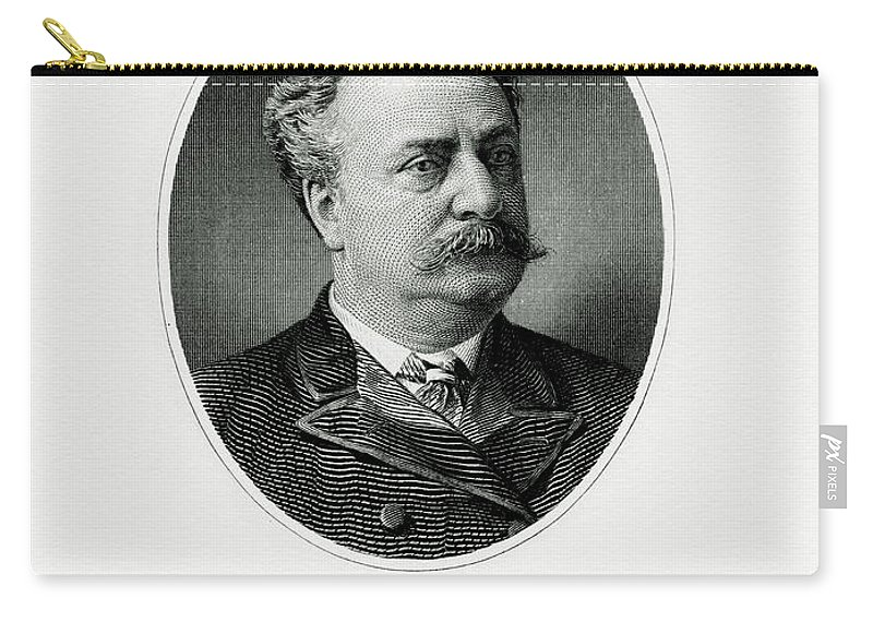 Daniel Manning Carry-all Pouch featuring the painting Daniel Manning by The Bureau of Engraving and Printing