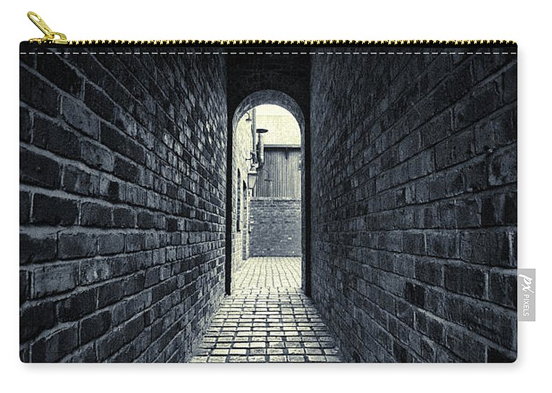 Horror Carry-all Pouch featuring the photograph Dark Alley by Duncan1890