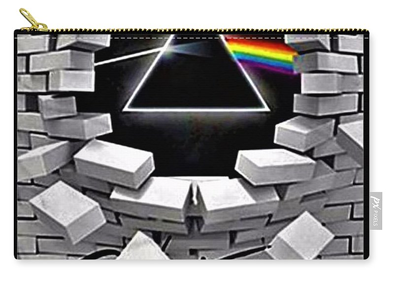 Pink Floyd Carry-all Pouch featuring the photograph Dark Side Of The Wall by Rob Hans