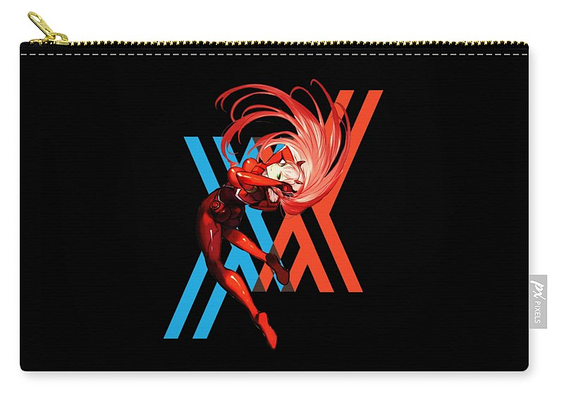 Zero Two Carry-all Pouch featuring the digital art Darlinx In The Franxx by Mario David