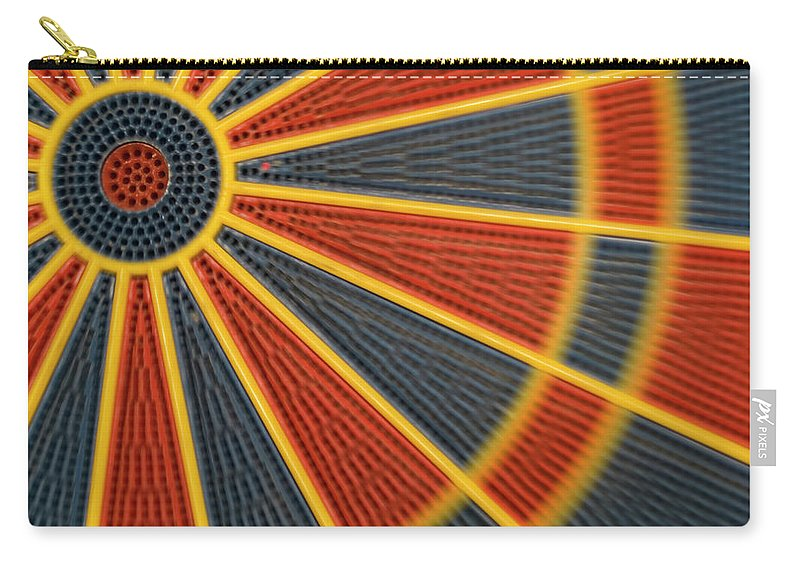 Dartboard Carry-all Pouch featuring the photograph Dart by Juan R. Martos