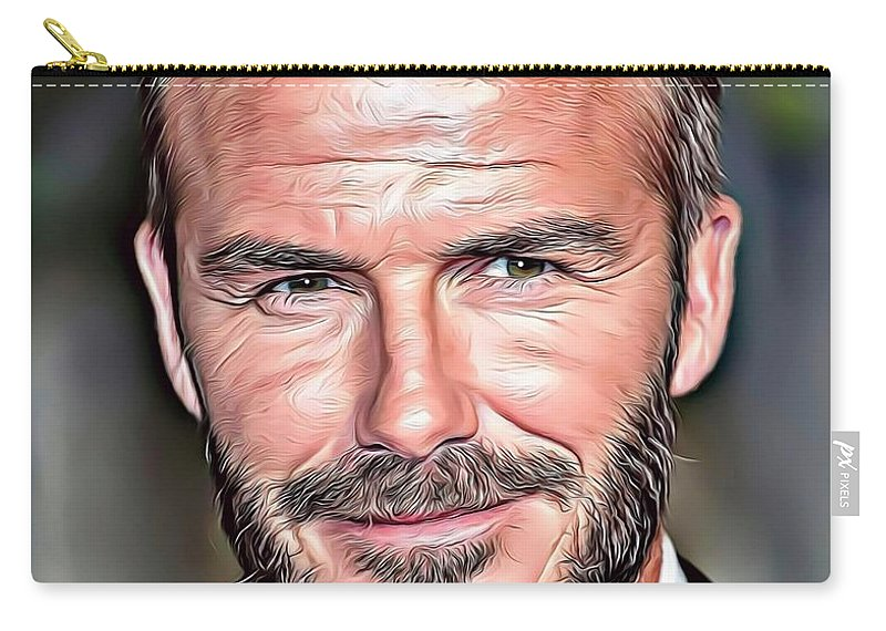 Celebrity Carry-all Pouch featuring the digital art David Beckham by Russ Carts