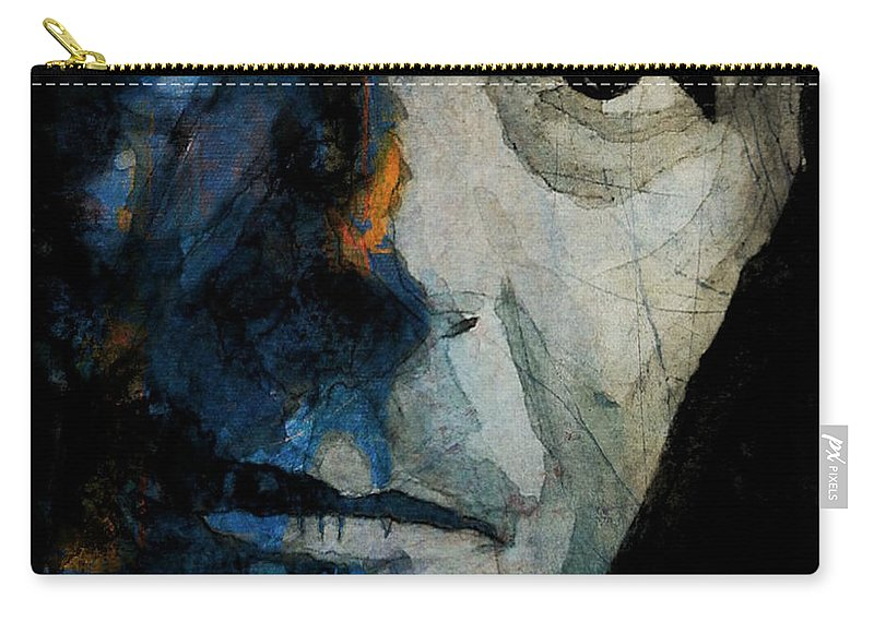 David Bowie Carry-all Pouch featuring the mixed media David Bowie _ Chameleon by Paul Lovering