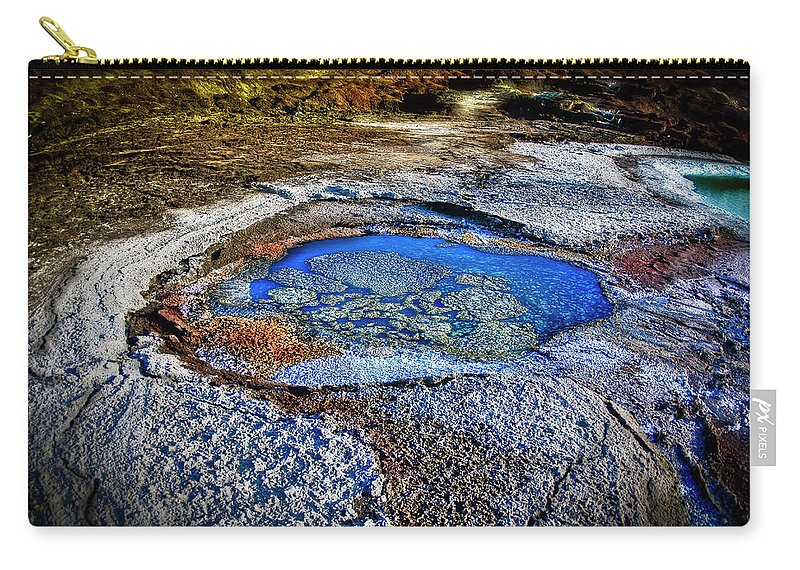 Tranquility Carry-all Pouch featuring the photograph Dead Sea Sink Holes by Photostock-israel
