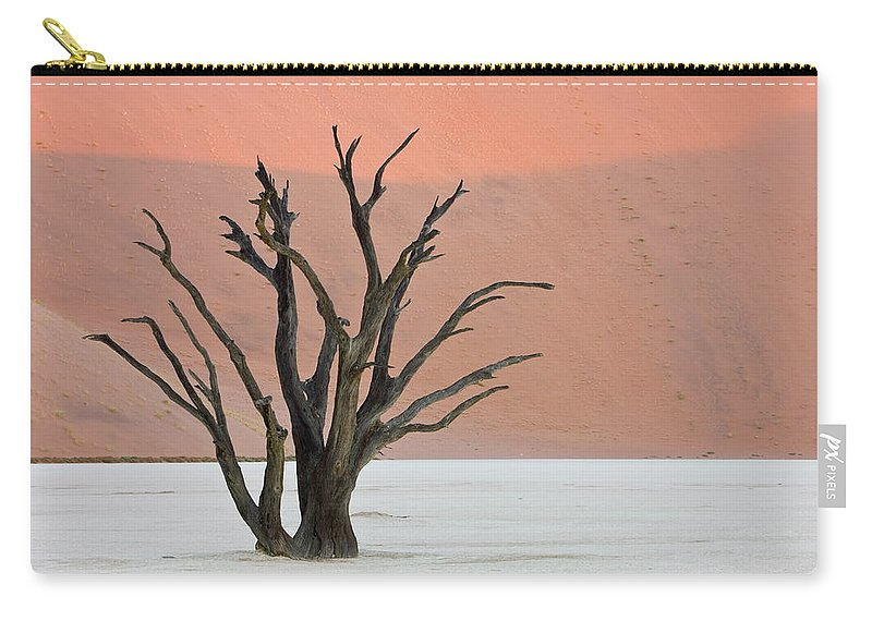 Scenics Carry-all Pouch featuring the photograph Dead Vlei Sossusvlei Africa Namibia by Thorsten Milse / Robertharding